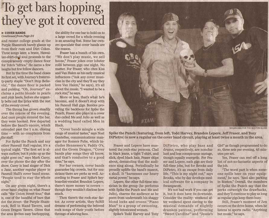 spike the punch bostonglobe article